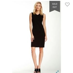 VINCE Classic V-neck Sleeveless Black Dress 4